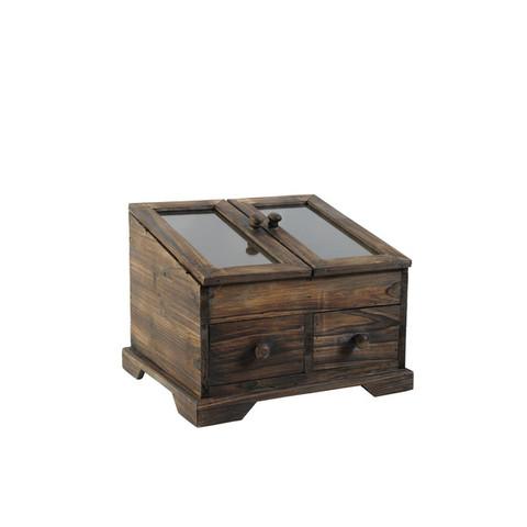 Коробка с ящиками деревянная