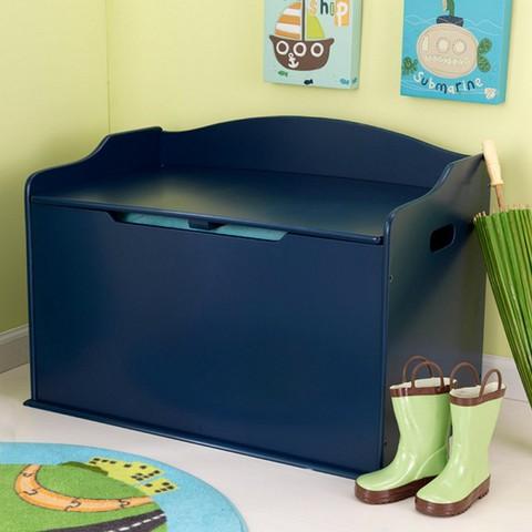 Ящик для игрушек синий 14959