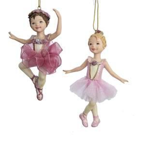 Балерина в розовом, ёлочное украшение