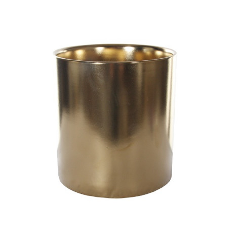 Кашпо золотое, 15 см