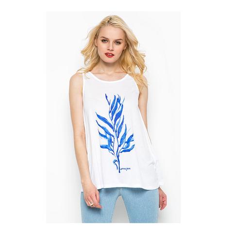 Топ синий цветок [Armani Jeans]