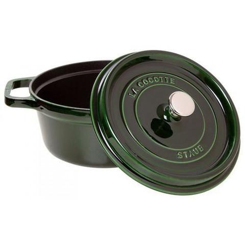 Кокот круглый, 20 см, 2,2 л, зеленый базилик 1102085
