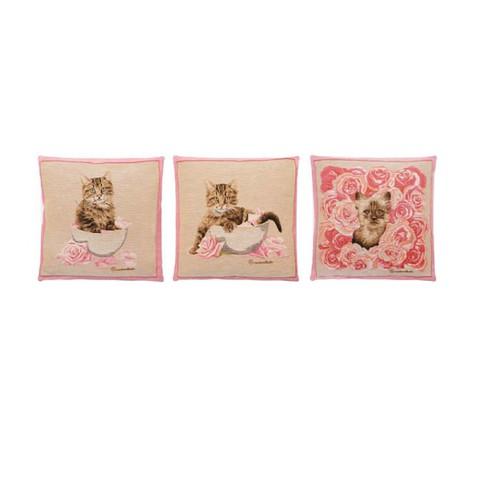 Подушка Кошечка в цветах