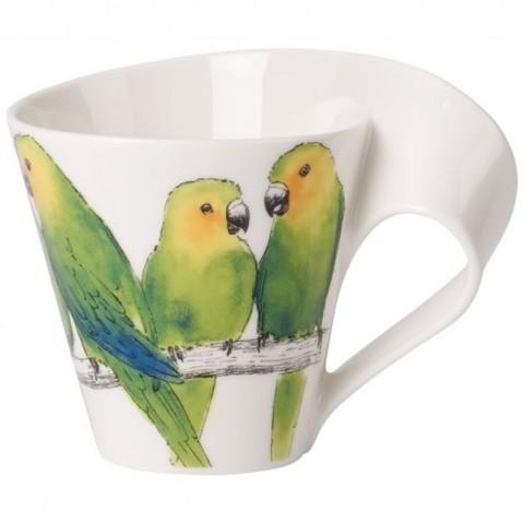 "Кружка 0.25л ""Попугай"" NewWave Caffe Animals,  [Арт. 1041569631]"