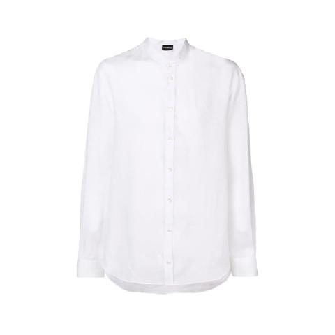 Рубашка белая лен  р.L