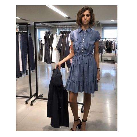 Платье голубое в цветок [Emporio Armani]