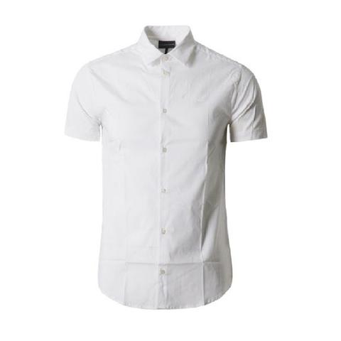 Рубашка белая с коротким рукавом  р.XL