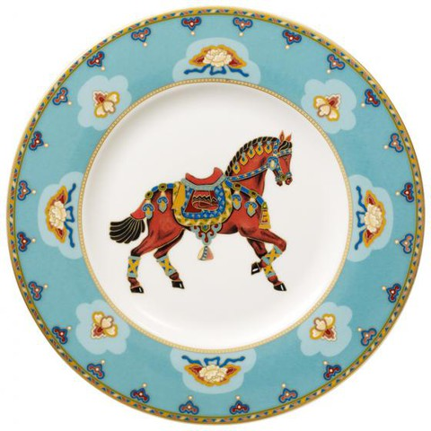 Салатная тарелка 22 см Аквамарин Samarkand Aquamarin,  [Арт. 1047302650]