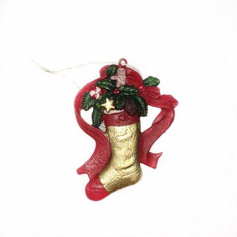 Новогодний сапожок, ёлочное украшение