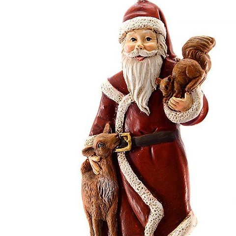 Дед Мороз со зверями, ёлочное украшение