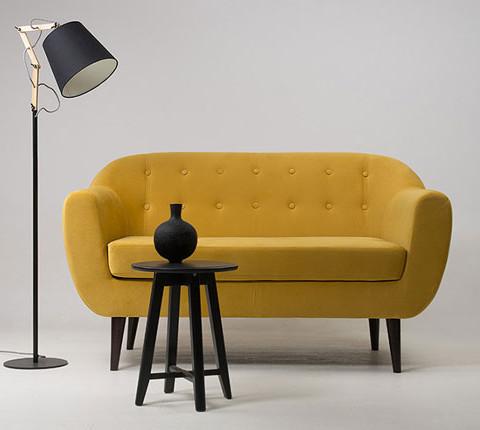 Диван Роттердам Velvet Yellow
