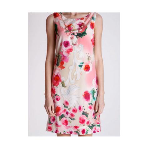 Платье розовое , цветы [VDP]