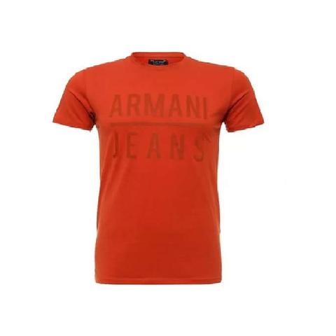 Футболка оранжевая  (Armani Jeans)