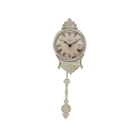 Часы с маятником серые