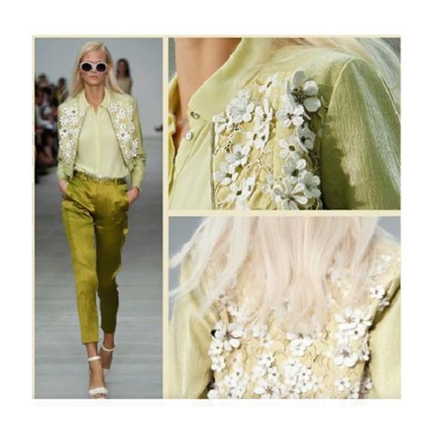 Куртка цветы зеленая [Matthew Williamson]