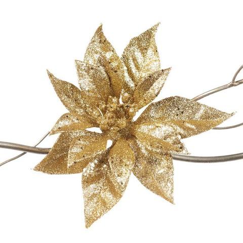 Пуансеттия золотая 19 см