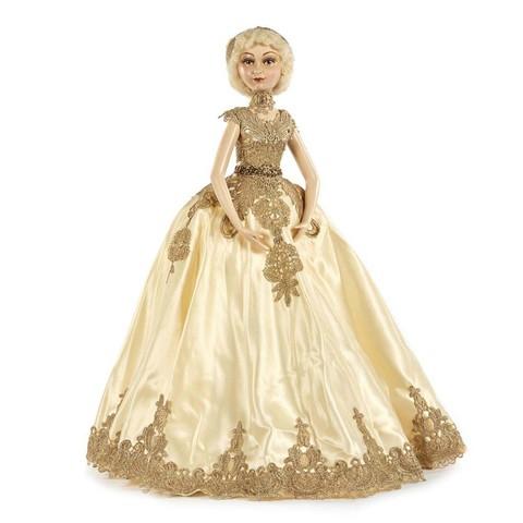 Декоративная кукла Золотая Королева