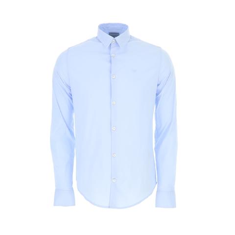 Рубашка голубая  р.L