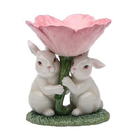 Подсвечник Кролики