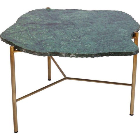 Столик зеленый из мрамора